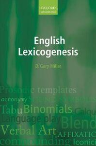 Ebook in inglese English Lexicogenesis Miller, D. Gary