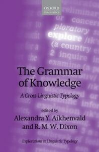 Foto Cover di Grammar of Knowledge: A Cross-Linguistic Typology, Ebook inglese di  edito da OUP Oxford