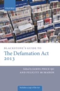 Ebook in inglese Blackstone's Guide to the Defamation Act -, -
