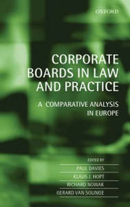 Ebook in inglese Corporate Boards in Law and Practice: A Comparative Analysis in Europe -, -