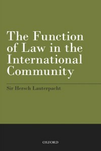 Ebook in inglese Function of Law in the International Community Lauterpacht, Hersch