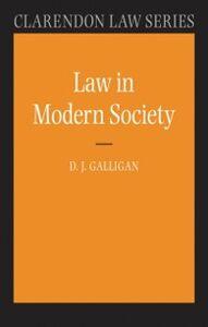 Ebook in inglese Law in Modern Society Galligan, Denis