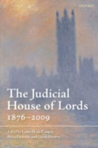 Ebook in inglese Judicial House of Lords: 1876-2009 -, -
