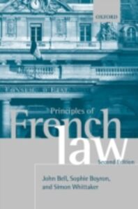 Ebook in inglese Principles of French Law Bell, John , Boyron, Sophie , Whittaker, Simon