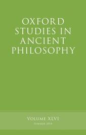 Oxford Studies in Ancient Philosophy, Volume 46