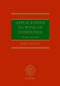 Ebook in inglese Applications to Wind Up Companies French, Derek