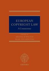 European Copyright Law: A Commentary