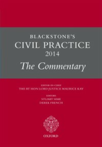 Ebook in inglese Blackstone's Civil Practice 2014: The Commentary -, -