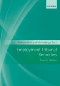 Ebook in inglese Employment Tribunal Remedies Korn, Anthony , Sethi, Mohinderpal