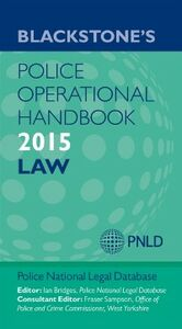 Ebook in inglese Blackstone's Police Operational Handbook 2015