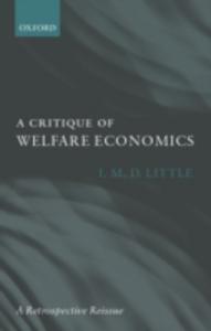 Ebook in inglese Critique of Welfare Economics Little, I. M. D.