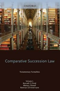 Ebook in inglese Comparative Succession Law: Volume I: Testamentary Formalities -, -