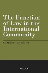 Foto Cover di Function of Law in the International Community, Ebook inglese di Hersch Lauterpacht, edito da OUP Oxford