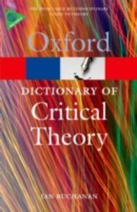 Ebook in inglese Dictionary of Critical Theory Buchanan, Ian