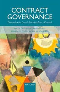 Foto Cover di Contract Governance: Dimensions in Law and Interdisciplinary Research, Ebook inglese di  edito da OUP Oxford