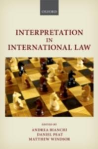 Ebook in inglese Interpretation in International Law -, -