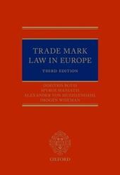 Trade Mark Law in Europe 3e