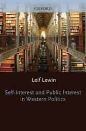 Self Interest and Public Interest in Western Politics