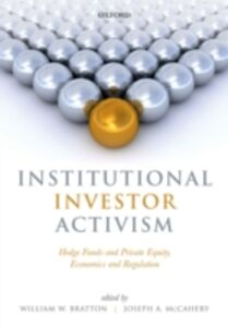 Foto Cover di Institutional Investor Activism: Hedge Funds and Private Equity, Economics and Regulation, Ebook inglese di  edito da OUP Oxford