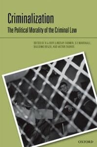 Ebook in inglese Criminalization: The Political Morality of the Criminal Law