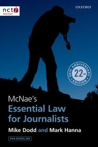 Ebook in inglese McNaes Essential Law for Journalists Dodd, Mike , Hanna, Mark