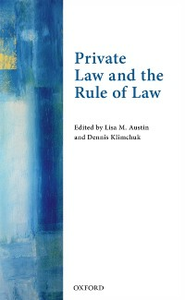 Ebook in inglese Private Law and the Rule of Law -, -