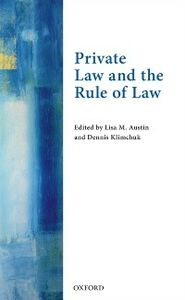 Foto Cover di Private Law and the Rule of Law, Ebook inglese di  edito da OUP Oxford