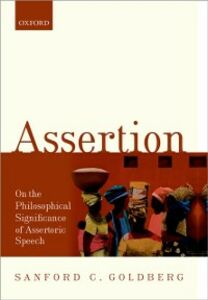 Ebook in inglese Assertion: On the Philosophical Significance of Assertoric Speech Goldberg, Sanford C.