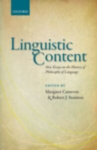 Ebook in inglese Linguistic Content: New Essays on the History of Philosophy of Language -, -