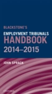 Ebook in inglese Blackstone's Employment Tribunals Handbook 2014-15 Sprack, John