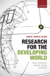 Research for the Developing World: Public Funding from Australia, Canada, and the UK