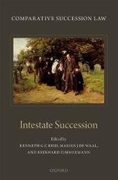Comparative Succession Law: Volume II: Intestate Succession
