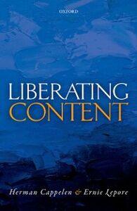 Ebook in inglese Liberating Content Cappelen, Herman , Lepore, Ernie