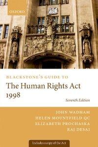 Foto Cover di Blackstone's Guide to the Human Rights Act 1998, Ebook inglese di AA.VV edito da OUP Oxford