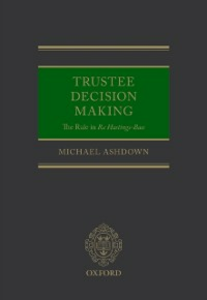Ebook in inglese Trustee Decision Making: The Rule in Re Hastings-Bass Ashdown, Michael