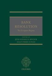 Bank Resolution: The European Regime