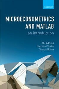 Foto Cover di Microeconometrics and MATLAB: An Introduction, Ebook inglese di AA.VV edito da OUP Oxford