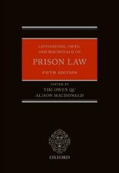 Livingstone, Owen, and Macdonald on Prison Law