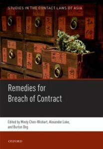 Ebook in inglese Studies in the Contract Laws of Asia: Remedies for Breach of Contract