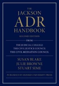 Ebook in inglese Jackson ADR Handbook Blake, Susan , Browne, Julie , Sime, Stuart