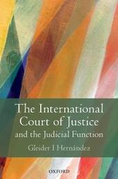 International Court of Justice and the Judicial Function