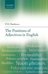 Ebook in inglese Positions of Adjectives in English Matthews, P. H.