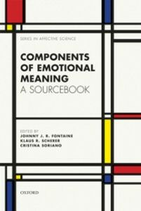 Ebook in inglese Components of emotional meaning: A sourcebook -, -