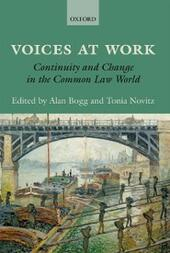 Voices at Work: Continuity and Change in the Common Law World