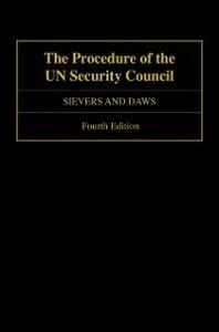 Ebook in inglese Procedure of the UN Security Council Daws, Sam , Sievers, Loraine