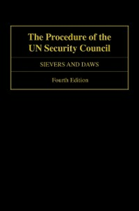 Ebook in inglese Procedure of the UN Security Council Daws, Sam , Sievers, Loraine