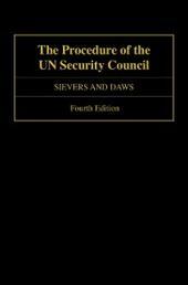 Procedure of the UN Security Council