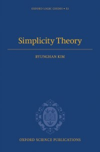 Ebook in inglese Simplicity Theory Kim, Byunghan