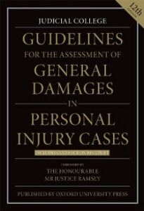 Ebook in inglese Guidelines for the Assessment of General Damages in Personal Injury Cases Judicial College, Judicial College