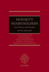 Minority Shareholders: Law, Practice, and Procedure